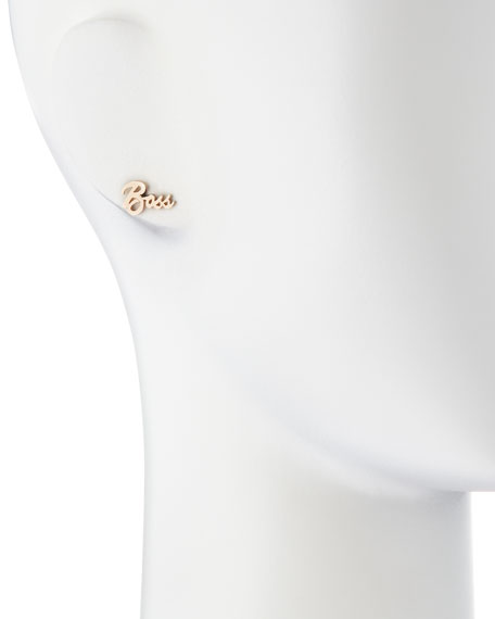 Boss Mini 14k Gold Single Earring