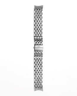 MICHELE 18mm CSX 7-Link Taper Steel Diamond Bracelet