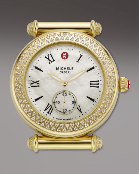 Caber Diamond Gold Watch Head
