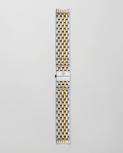 MICHELE 18mm Serein 7-Link Two-Tone Gold Bracelet Strap