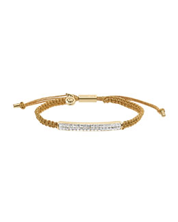Michael Kors  Holiday Macrame Cord Bracelet, Golden