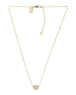 Michael Kors  Pave Heart Pendant Necklace, Golden