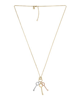 Michael Kors  Key Charms Necklace, Multicolor