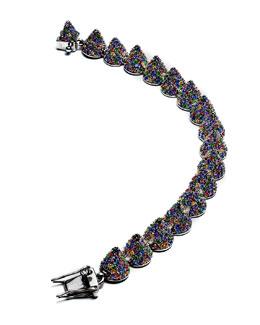 Eddie Borgo Pave Crystal Cone Small Bracelet, Multicolor