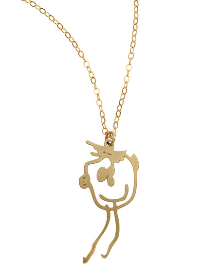 BREVITY Custom Drawing Necklace in Gold
