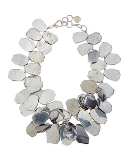 Nest Silver-Plated Quartz Cluster Necklace