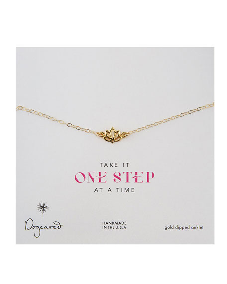 14k Gold Vermeil Lotus Anklet