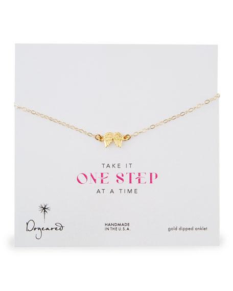 14k Gold Vermeil Angel Wings Anklet
