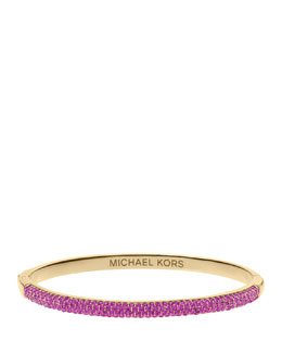 Michael Kors  Camille Pave Bangle, Berry/Golden