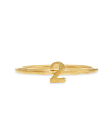 Gold Vermeil Number 2 Ring