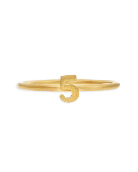 Gold Vermeil Number 5 Ring