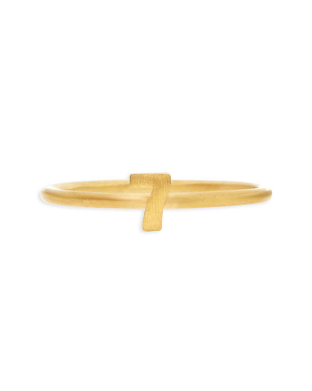 Gold Vermeil Number 7 Ring
