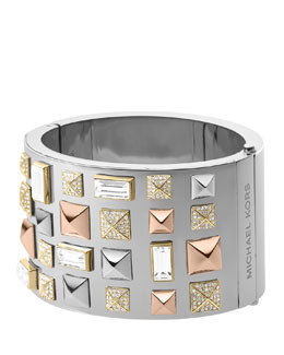 Michael Kors  Pyramid-Stud Bangle, Multicolor