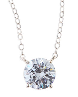 Fantasia by DeSerio Round Cubic Zirconia Pendant Necklace, 2.5 TCW