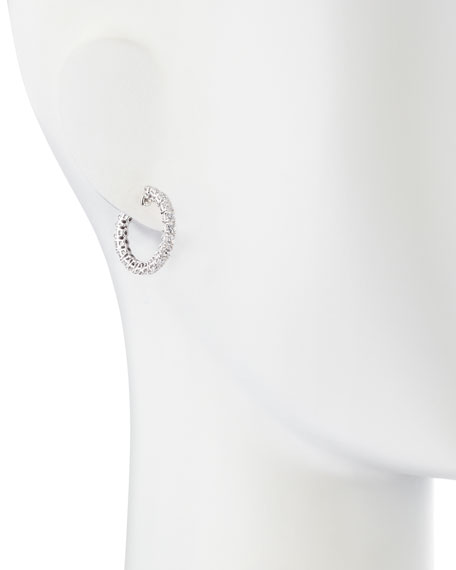 Small Cubic Zirconia Hoop Earrings, 3 TCW