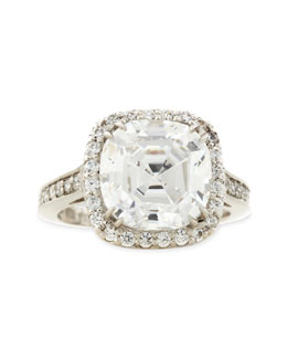 Fantasia by DeSerio Asscher-Cut Cubic Zirconia Ring, 8.75 TCW