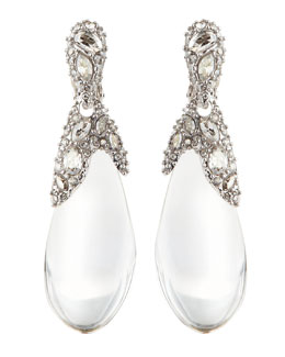Alexis Bittar Pave Crystal Lucite Drop Earrings