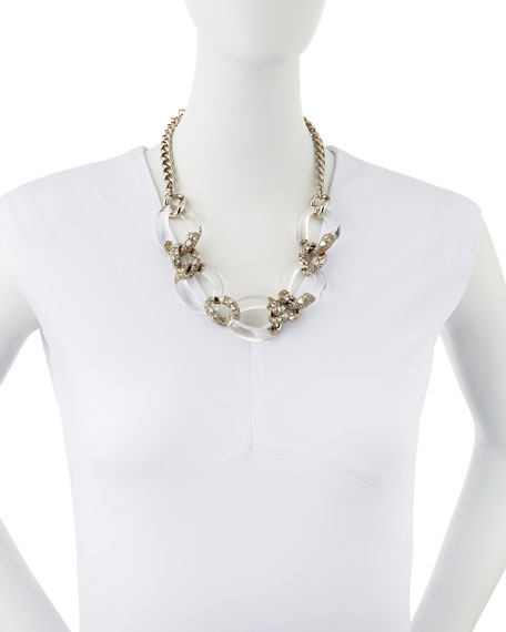 lyst link clear encrusted bittar half product gallery jewelry alexis normal necklace lucite