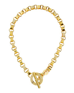 MARC by Marc Jacobs Enamel Toggle Necklace, Cream