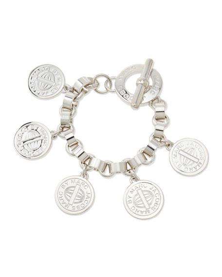 Toggle-Clasp Charm Bracelet, Silvertone