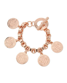 MARC by Marc Jacobs Toggle-Clasp Charm Bracelet, Rose Golden
