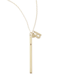 Jennifer Zeuner I Heart Necklace with Your Choice of 1 Letter Charm