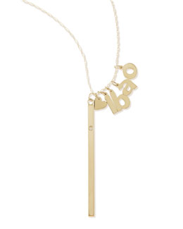 Jennifer Zeuner I Heart Necklace with Your Choice of 4 Letter Charms