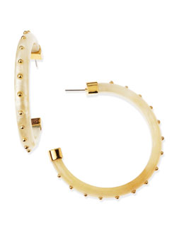 KARA by Kara Ross Studded Resin Hoop Earrings