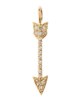 Sarah Chloe Decker Diamond Cupid's Arrow Charm
