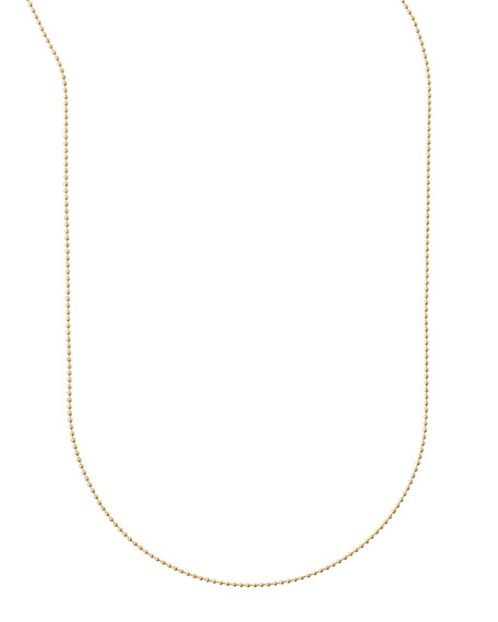 "Plated Ball Chain Necklace, 36""L"
