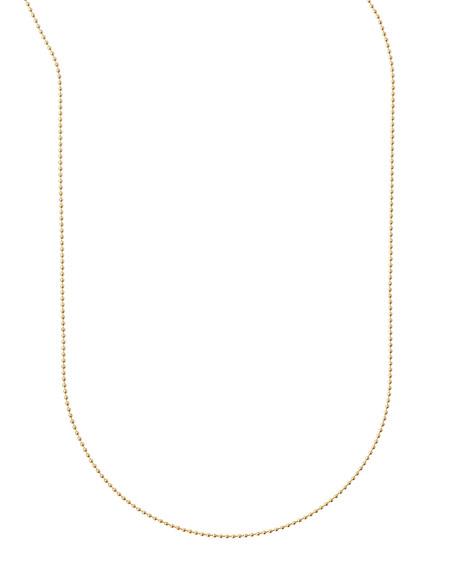 Sarah Chloe Plated Ball Chain Necklace, 36