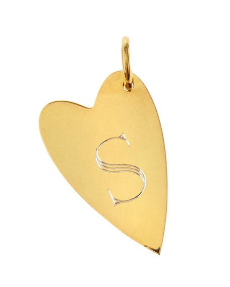 Sarah Chloe Small Jocelyn Initial Heart Charm m584FV