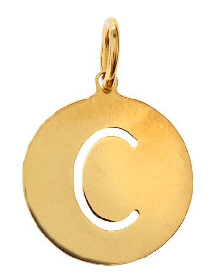 Sarah Chloe Eva 1-Letter Ampersand Disc Charm, 1/2