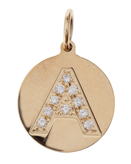 Sienna Diamond Initial Disc Charm