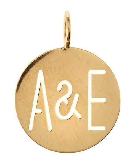 Large Eva 2-Letter Ampersand Disc Charm