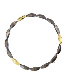 Alexis Bittar Fine Slate Marquise Tennis Bracelet with Diamonds