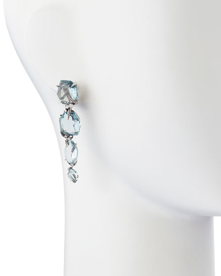 Midnight Marquise Blue Quartz Drop Earrings