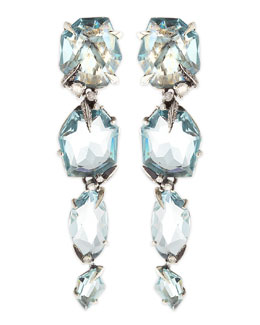 Alexis Bittar Fine Midnight Marquise Blue Quartz Drop Earrings