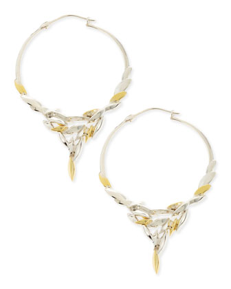 Silver & 18k Gold Marquise Cascade Earrings