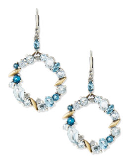 Alexis Bittar Fine Midnight Marquise Circle-Drop Earrings, Blue