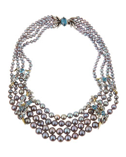 Alexis Bittar Fine Midnight Marquise Pearl Necklace