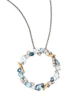 Alexis Bittar Fine Midnight Marquise Circle Pendant Necklace