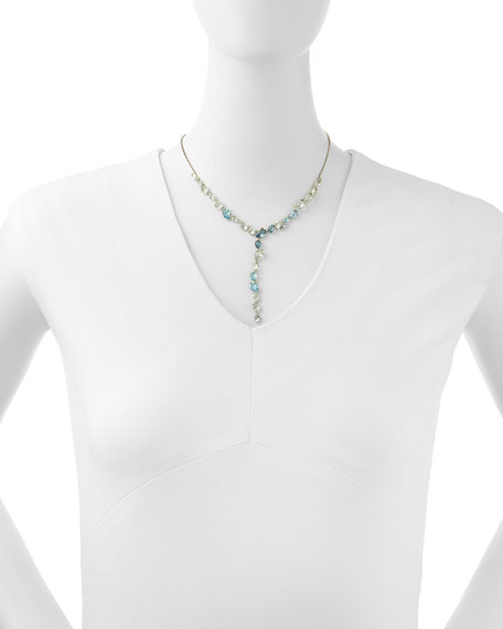 Midnight Marquise Multi-Stone Y-Drop Necklace