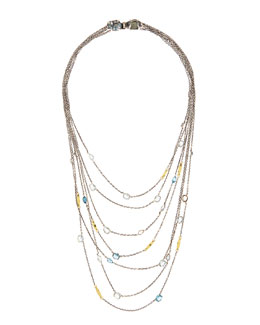 Alexis Bittar Fine Midnight Marquise 18k Multi-Strand Necklace