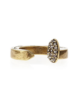 Giles & Brother Pave Railroad Spike Ring, Brass