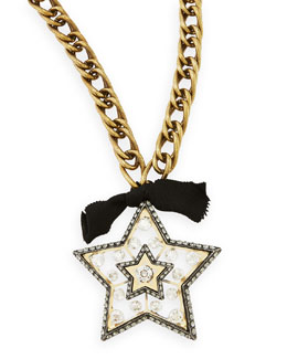 Lanvin Star Brooch Pendant Necklace