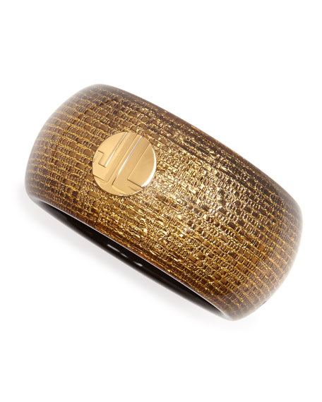 Golden Bangle with Woven Finish