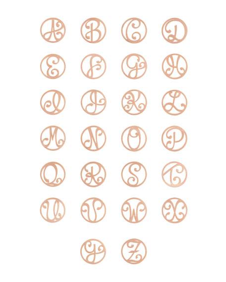 Medium 2-Initial Necklace, Rose Gold