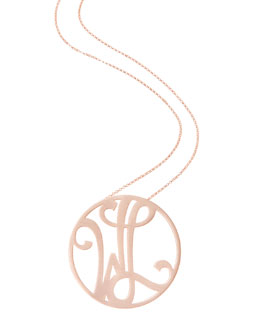 K Kane Medium 2-Initial Necklace, Rose Gold