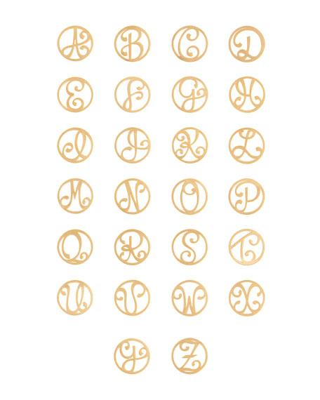K Kane 2-Initial Monogram Station Necklace, Yellow Gold, 34